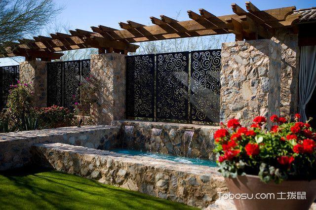 花园灰色细节地中海风格装修设计图片