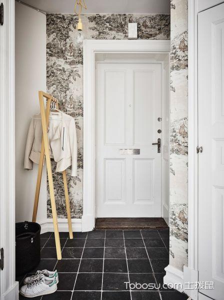 玄关白色走廊北欧风格装饰效果图