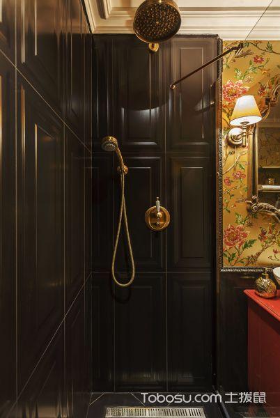 卫生间黑色细节混搭风格装潢图片