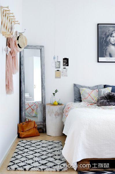 卧室白色细节北欧风格装潢设计图片