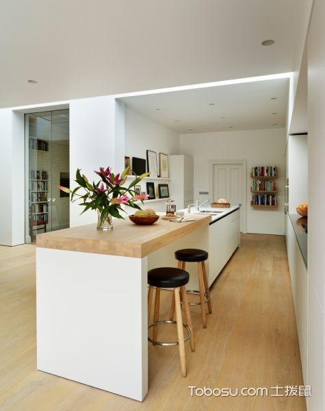 厨房米色厨房岛台北欧风格装潢图片