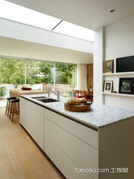 厨房灰色厨房岛台北欧风格装修效果图