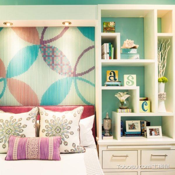儿童房彩色背景墙地中海风格装修设计图片