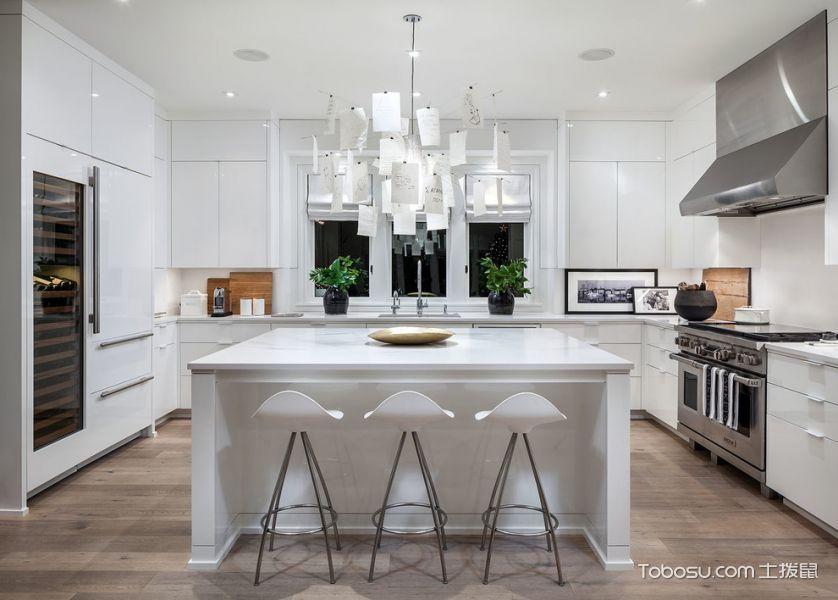 厨房白色厨房岛台北欧风格装修效果图
