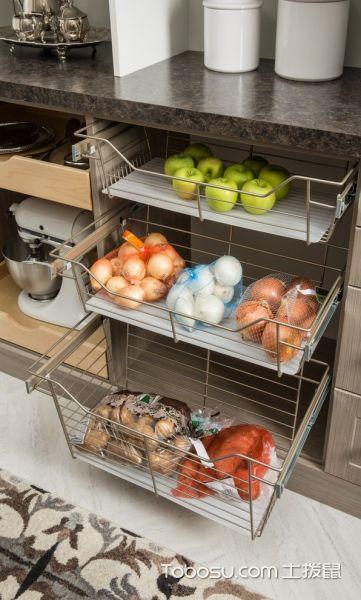 厨房彩色细节现代风格装潢效果图