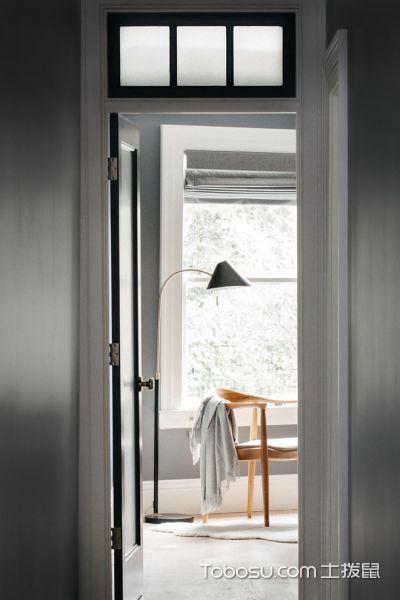 玄关灰色走廊北欧风格装饰图片