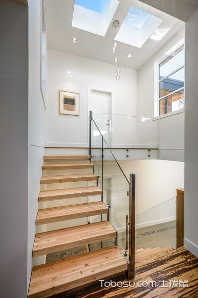 玄关咖啡色楼梯现代风格装潢效果图