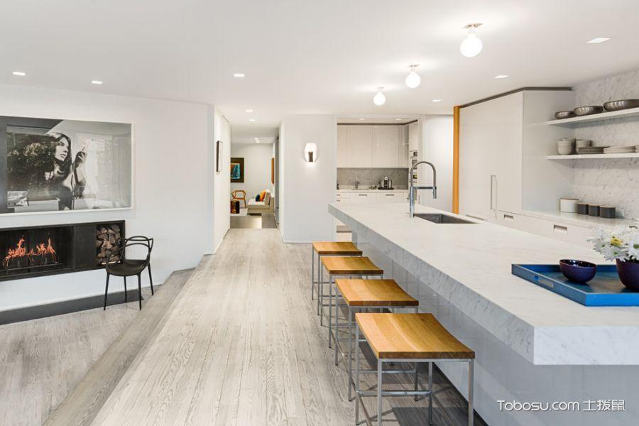 厨房白色厨房岛台现代风格效果图