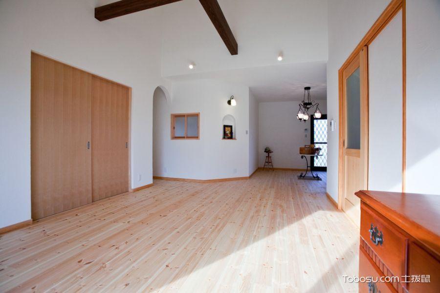 客厅米色推拉门日式风格装饰效果图