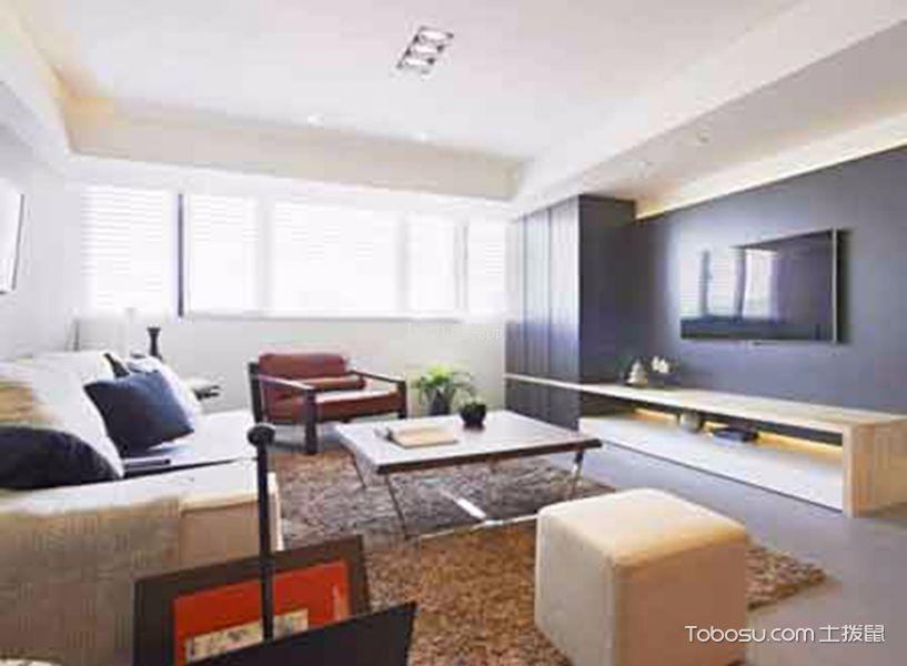 7万奥北公元88平简约风格二居室装修效果图