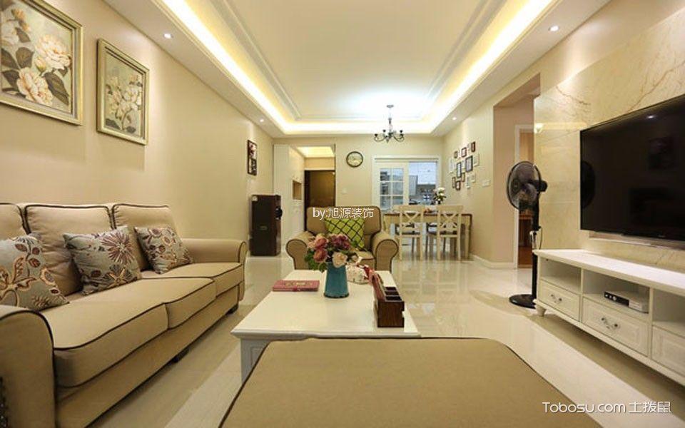 现代简约风格105平米3房2厅房子装饰效果图