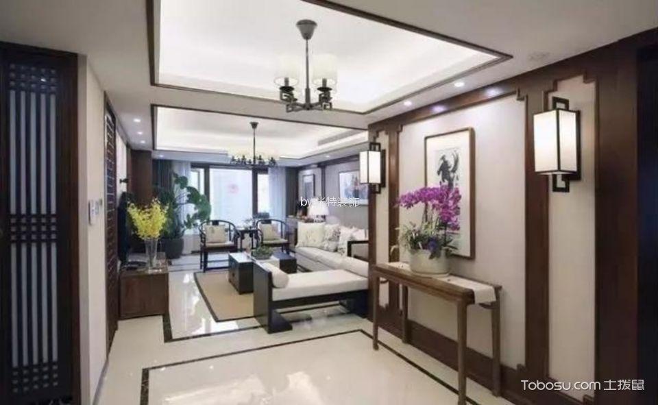 中式风格147平米3房2厅房子装饰效果图