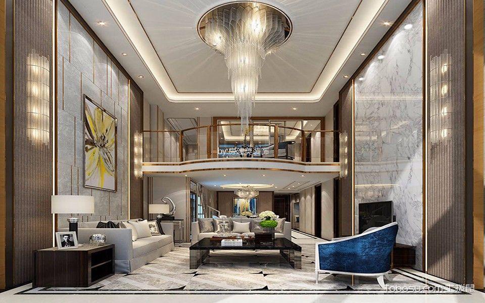 现代简约风格170平米复式房子装饰效果图