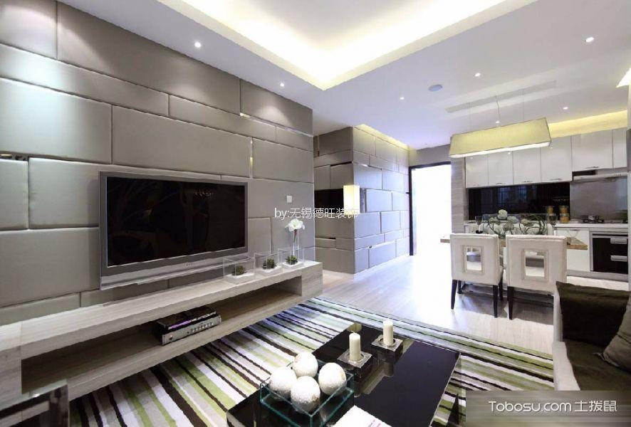 现代风格133平米三房两厅新房装修效果图