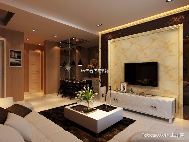 2019现代欧式90平米装饰设计 2019现代欧式二居室装修设计
