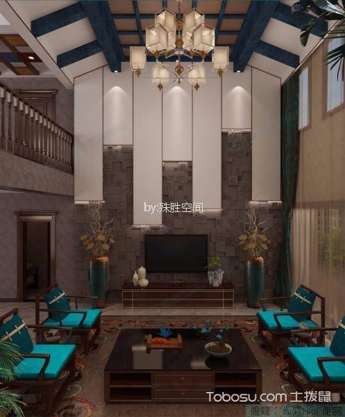 郑州正商红河谷520平米新中式风格效果图