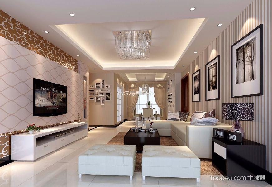 水清木华143平米现代中式风格四居室装修效果图