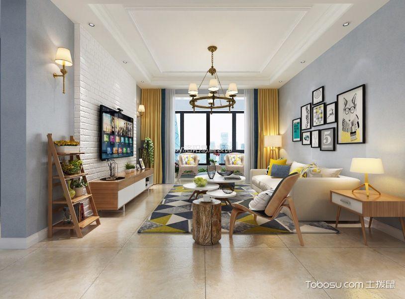 北欧风格118平米3房2厅房子装饰效果图