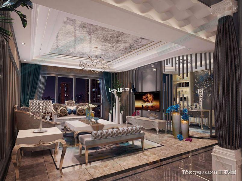 欧式风格200平米大户型房子装饰效果图
