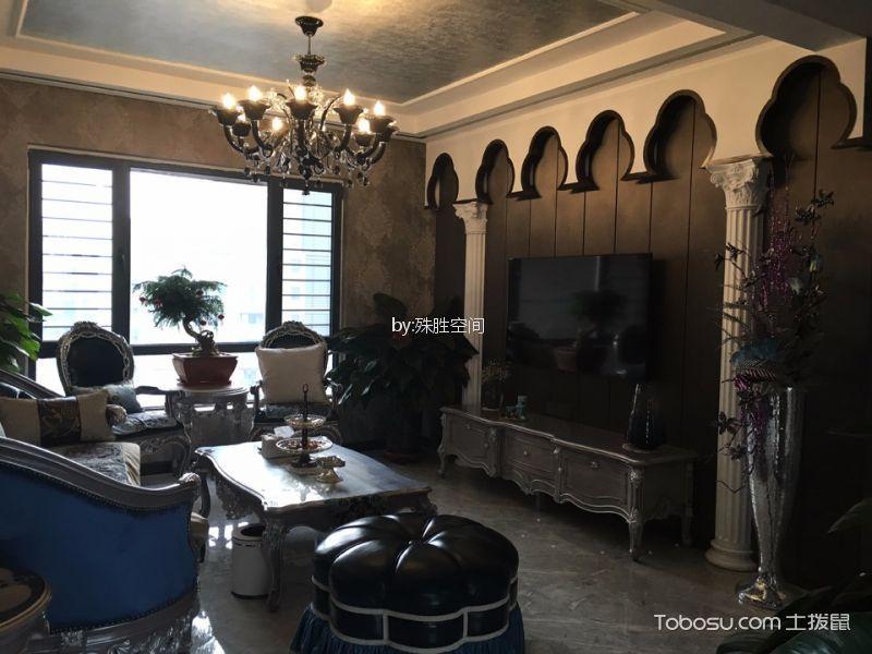 新古典风格120平米四室两厅室内装修效果图