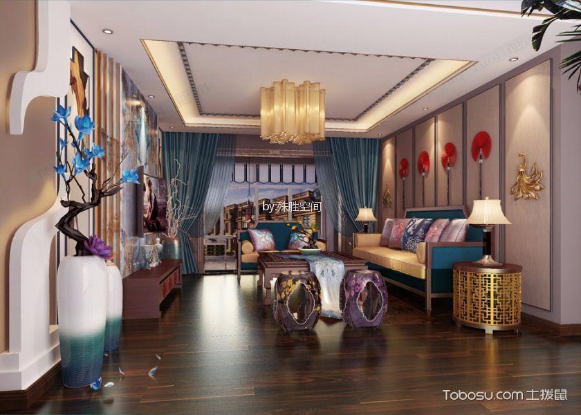 新中式风格120平米复式室内装修效果图