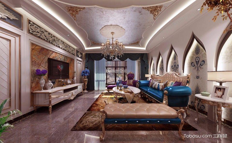 欧式风格180平米大户型室内装修效果图