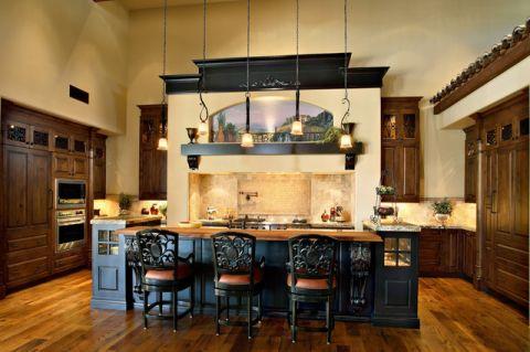 厨房地中海风格效果图大全2017图片_土拨鼠美好温馨厨房地中海风格装修设计效果图欣赏