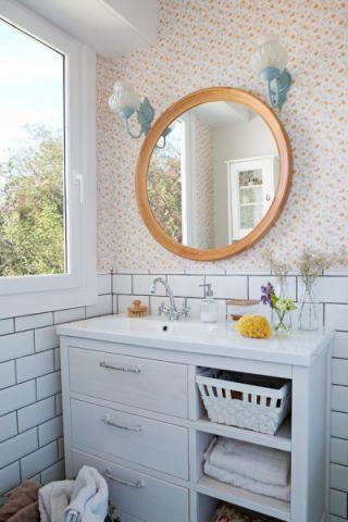 文艺米色浴室装饰效果图