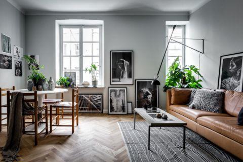 客厅北欧风格效果图大全2017图片_土拨鼠大气写意客厅北欧风格装修设计效果图欣赏