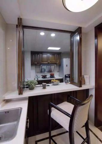 中式厨房吧台装潢效果图