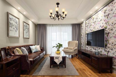 美式风格116平米小户型新房装修效果图