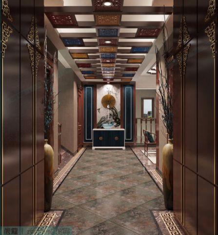 新中式玄关走廊装饰实景图片