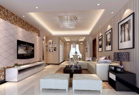 现代中式风格143平米四室两厅室内装修效果图