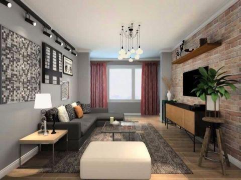 欧式风格77平米两室两厅室内装修效果图