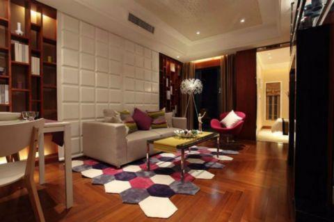 混搭风格85平米一室两厅室内装修效果图