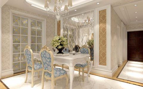 简欧餐厅推拉门室内装修设计