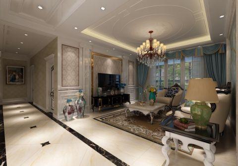 舒适白色客厅装修案例图片