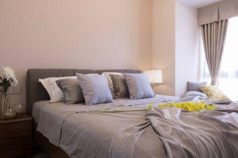 卧室米色背景墙室内装修图片