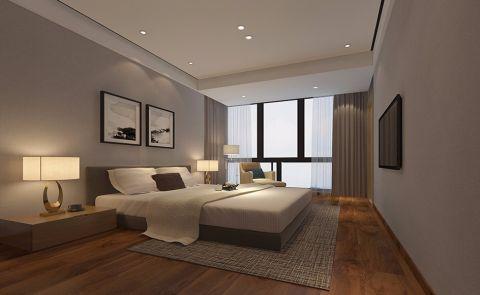 卧室灰色背景墙简约风格装饰设计图片