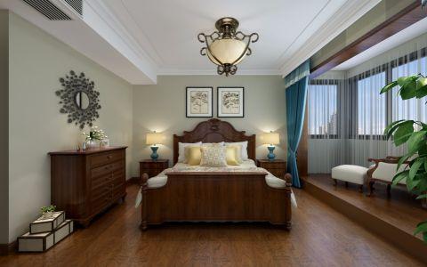 优雅卧室窗帘装饰实景图片