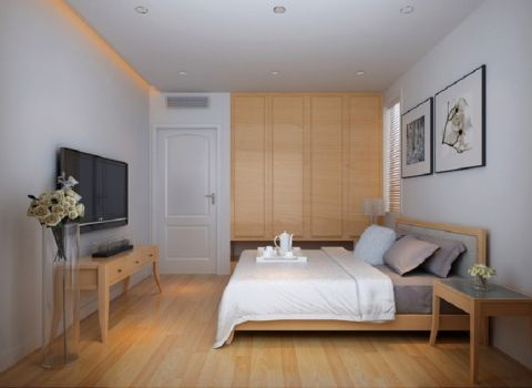 卧室黄色衣柜日式风格效果图