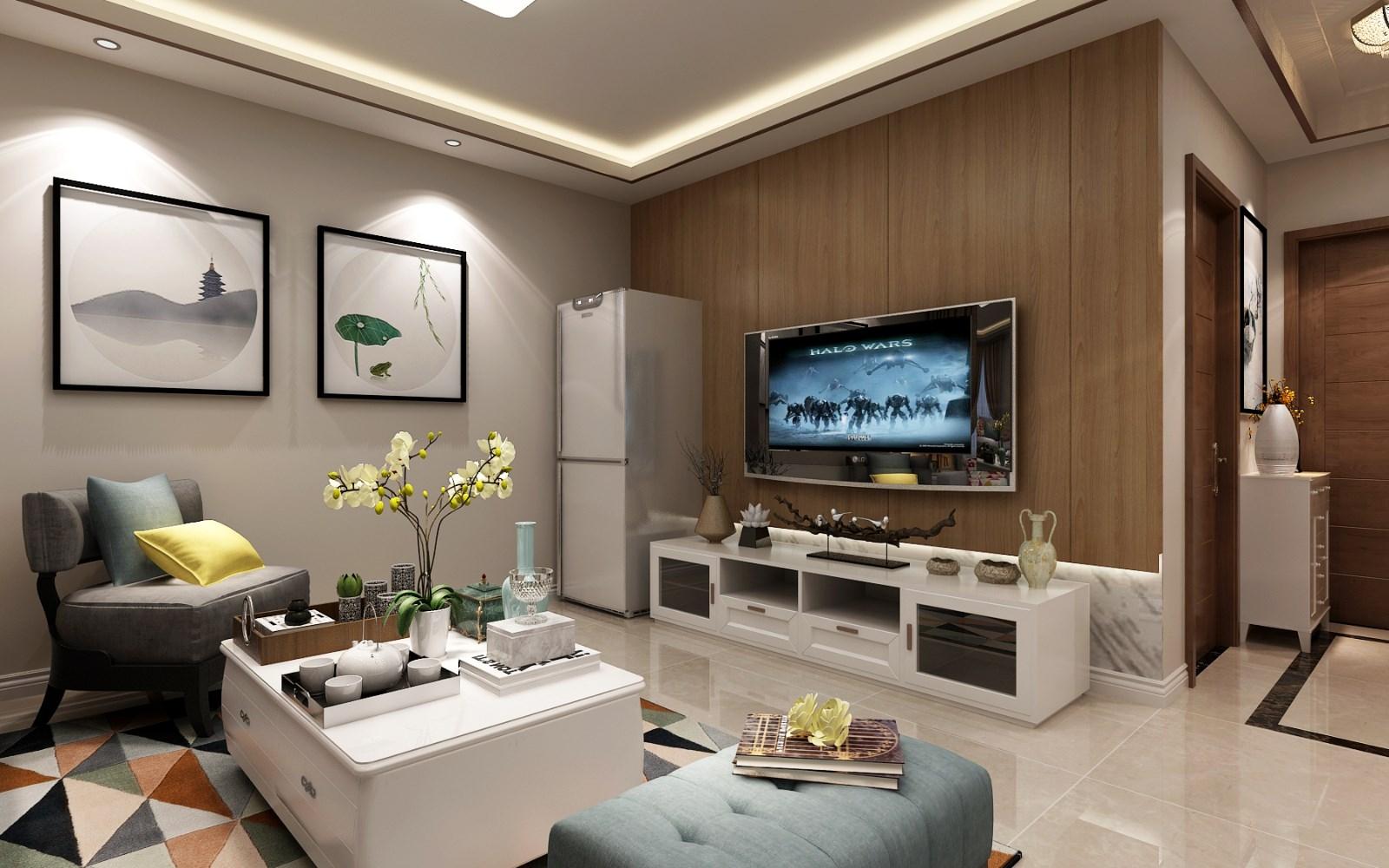 3室2卫1厅93平米现代风格