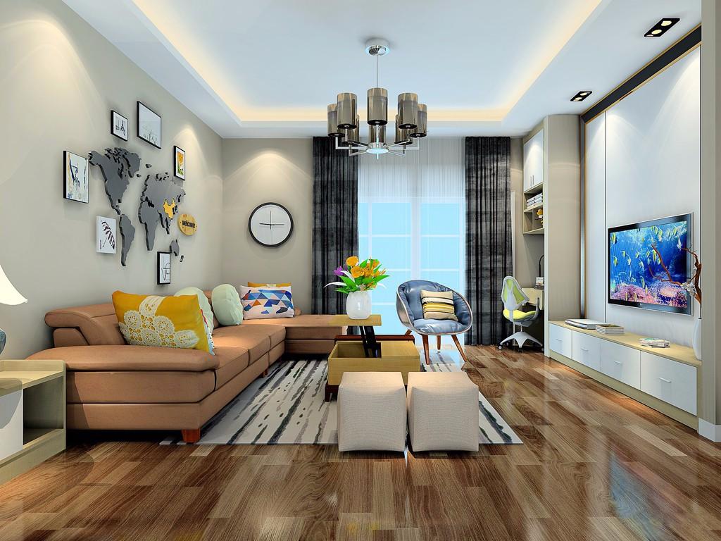 2室1卫1厅86平米现代简约风格
