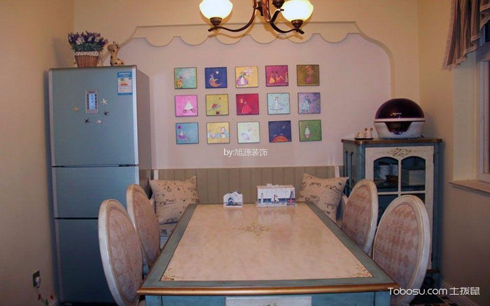 餐厅白色背景墙美式风格效果图