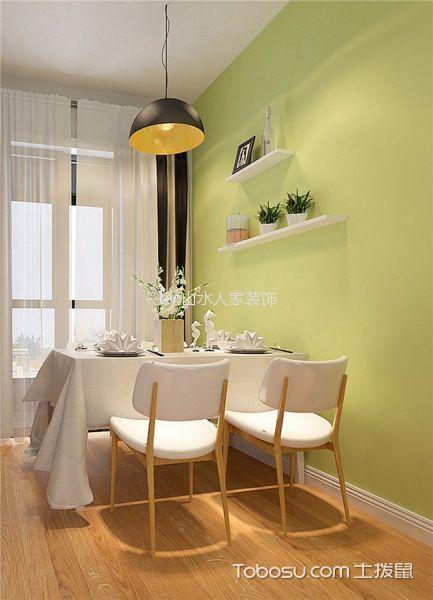 餐厅绿色背景墙设计方案
