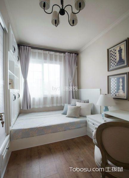 卧室白色榻榻米美式风格装饰设计图片