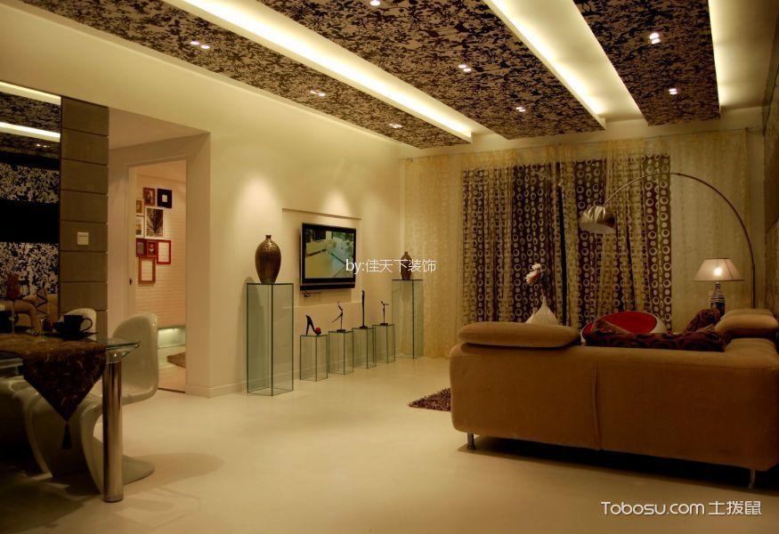 现代简约风格138平米3房2厅房子装饰效果图