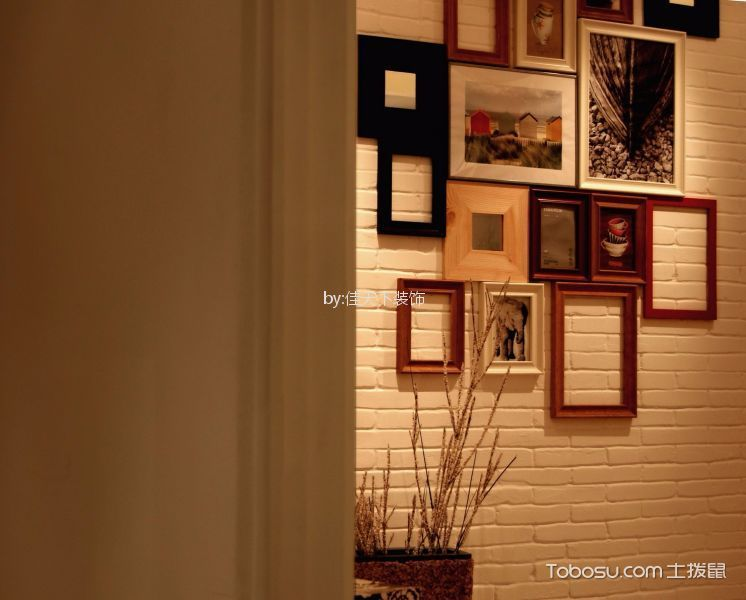 客厅米色照片墙现代简约风格装饰效果图