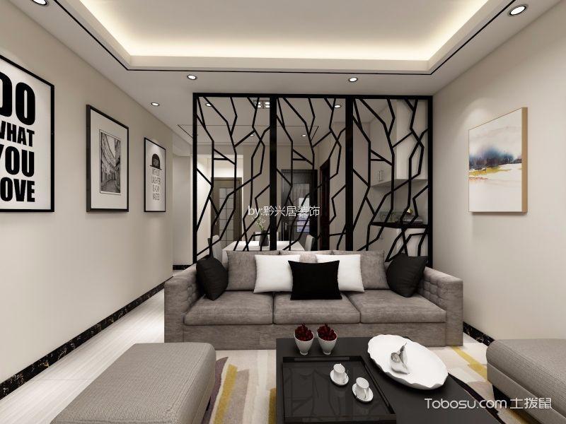 新中式风格87平米3房2厅房子装饰效果图