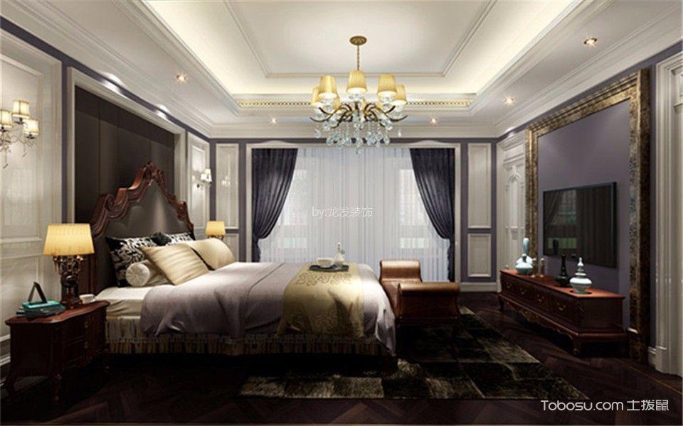 卧室白色吊顶欧式风格装潢设计图片